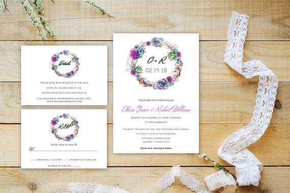 Floral wedding invite word_8,INSTANT DOWNLOAD, Editable Wedding template invitation. Microsoft Word template.Wedding Printable