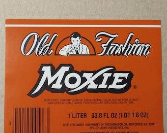 Vintage Moxie Soda Paper Beverage Bottle Label Vintage Ephemera  #17