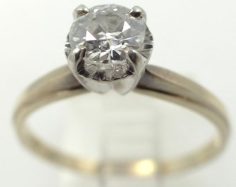 14k Gold 0.60 Solitaire Diamond Ring