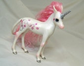 ooak hand sculpted polymer clay art doll fantasy unicorn pony figurine model by Kate Sjoberg made to your specifications