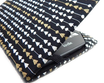 Kindle Touch cover - String Theory -  Kindle Paperwhite -  eReader case - black white gold geometric dot, Kobo Glo HD, Kindle Keyboard