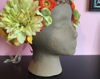 Juicy Citrus -  Art Nouveau Floral Crown
