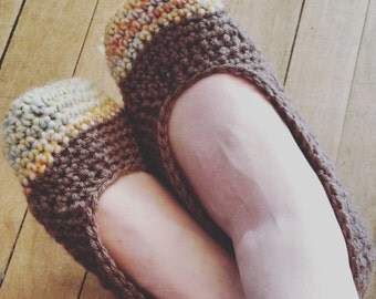 Cozy Crochet Mary Jane Style Slippers Made to Order