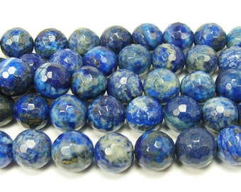 Natural Lapis Faceted Gemstone Beads