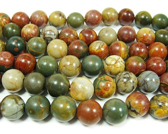 Red Turquoise Round Gemstone Beads