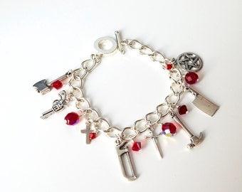 Scary Movie. Horror Movie Themed Charm Bracelet.