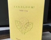 Ker-bloom letterpress zine 119