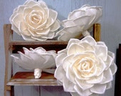 Set of 4 Roses Sola Wood Diffuser Flowers 18 cm Dia.