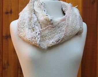 Cream BG05, a Everyday Scarf in beige handwoven and felted by me