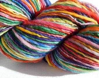 Rainbow Run IV-Self Striping Handspun Yarn