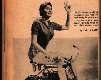 25 Projects on Wheels 1960 - Science and Mechanics Publishing Company - Vintage Magazine