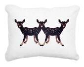 Artist Designed Deer Decorative Pillow