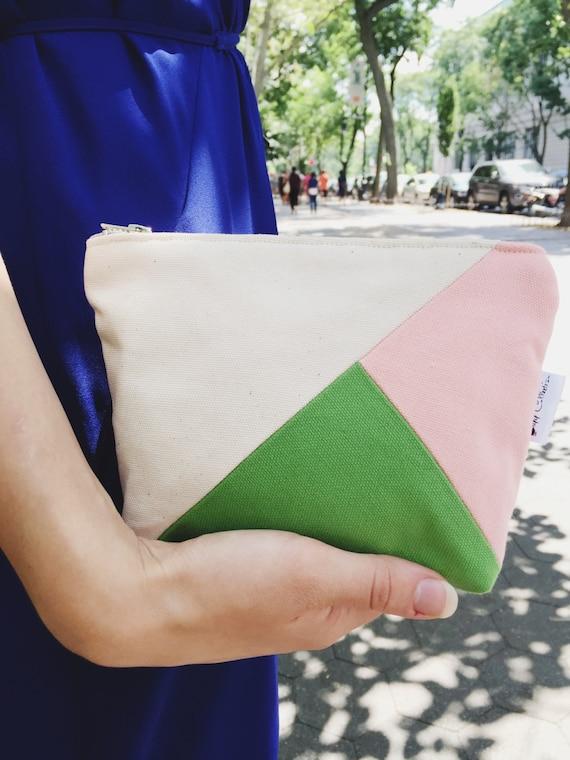 Canvas Makeup Bag, Zipper Pouch, Small Makeup Bag, Women's Toiletry Bag, Cosmetic Bag, Beauty Bag
