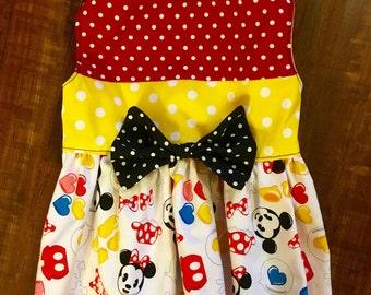 Mickey Minnie Print Custom Dog Dress XXS - Medium