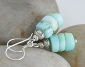 Reserved for Kimberly - BLUE PERUVIAN OPAL Drop Sterling Silver Earrings