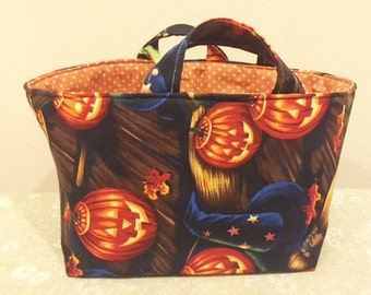 Halloween Candy Basket | Trick or Treat Bag | Pumpkin Fall Basket | Storage Organizer Bin