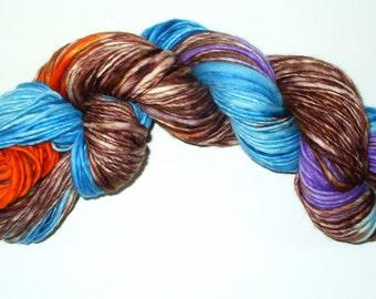 Hand Spun Hand Dyed Wool Yarn for Knitting Yarn