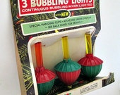 Vintage Bubble Lights Bulbs - Set of 3 in Original Package