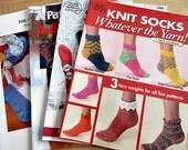 4 Sock Knitting Pattern Booklets - Edie Eckman Patons Sock Journal