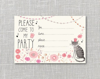 Kitty Party Party Invitation Printable Instant Download PDF