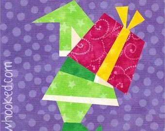 Santa's Helper, paper pieced