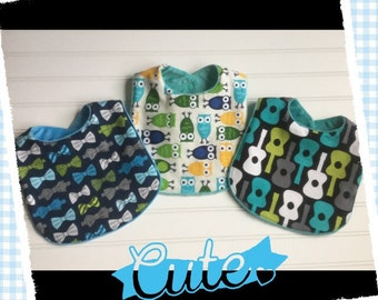 Boutique Kawaii  Baby Boy Bibs- Set of 3