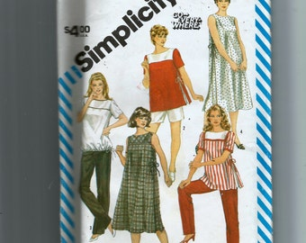 Simplicity Maternity Go-Every Where Pull-On Pants or Shorts and Pullover Dress or Top  Pattern 6251