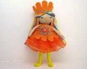 Princess Bendy Doll- Waldorf Bendable Felt Doll- Dollhouse Doll- Miniature Waldorf Princess- Small Doll- Child Friendly- Queen- Girl