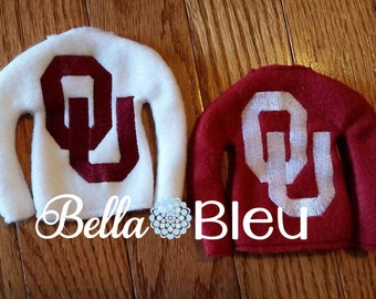 The University of Oklahoma Elf or Doll Shirt Sweater, Boomer Sooners, Sooners, Officially Licensed