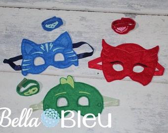 Adult PJ Masks Mask, PJ Masks Birthday, PJ Masks Owlette, Geeko, Catboy