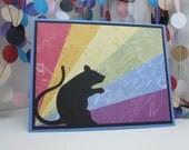 Rainbow Bridge Rat Card - rat sympathy - pet sympathy - animal sympathy
