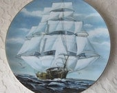 Vintage 1978 The Flying Cloud Ship, Great American Sailing Ships Danbury Mint Collector Plate