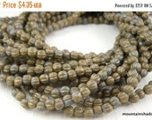 25% OFF Summer Sale Melon Beads 3mm  - Premium Czech Glass Matte - Oxidized Bronze Clay - 100 beads (G - 717)
