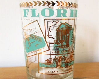 vintage Florida state souvenir juice glass