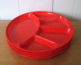 4 vintage divided plates Japan