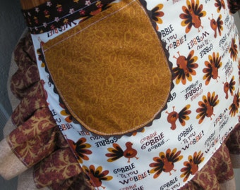 Aprons - Thanksgiving Aprons - Gobble Gobble Till You Wobble Aprons - Turkey Aprons -  Etsy Thanksgiving  Aprons - Fall Aprons  Apron