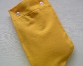 SALE Solid Yellow Flannel Hot Water Bottle Cover