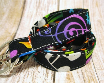 Lanyard, Badge Holder, ID Holder, Breakaway Lanyard, Fabric Lanyard, Employee Lanyard, Teacher Lanyard, Music Notes