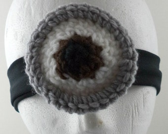 Crocheted Goggles Headband - The Minion (single) (SWG-HH-GGMINI02)