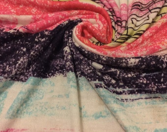 Stretchy Jersey Knit Fabric Mutli-Color Print