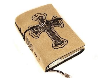 Cross, Journal, Leather, Handmade, Suede,