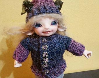 Realfee Unisex coat scarf and hat set handknit