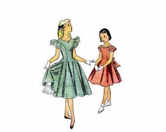 SALE 1950s Girls Princess Dress Crinoline Petticoat Simplicity 3873 Vintage Sewing Pattern Size 8