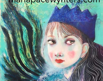 Never To Old For Crowns and Feathers- Original painting by Maria Pace-Wynters