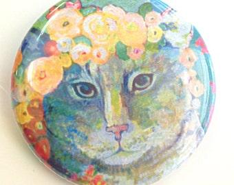 Cat Button, 1.25 in, by Jenlo