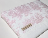 MacBook Air Case 11, 13 inch Women's Laptop Sleeve, MacBook Air Cover, MacBook with Retina Display Sleeve - Baby Pink Toile