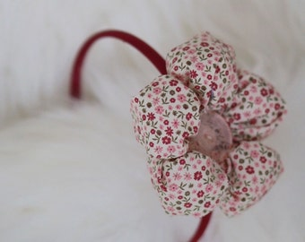 Oversize Flower Headband - Little french flowers fabric-