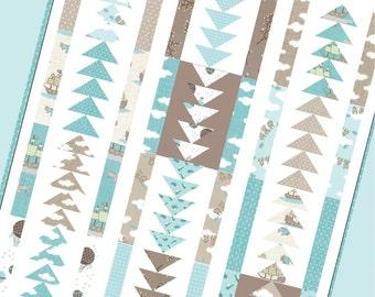 SALE - Blue Skies quilt pattern from Lella Boutique  - fat quarter friendly