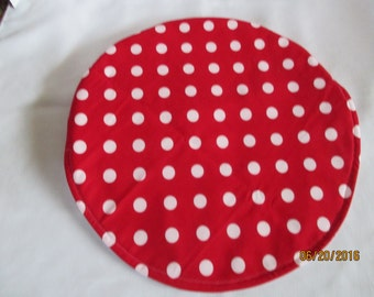 Steering wheel cover, Auto accessories, automobile accessories, car accessories, red and white polka dots, heat protector, hand crafted