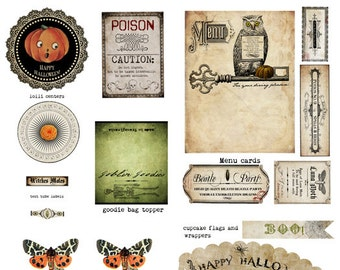 The Witch's Larder Halloween Printables